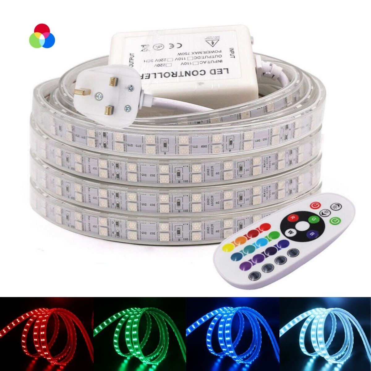 RGB LED Strip 220V 120LED_m Wireless Bluetooth (4)