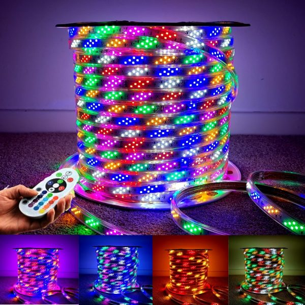 Rainbow RGB LED Strip 220V 240 144LED/m SMD 2835 - www.ukledlights.co.uk