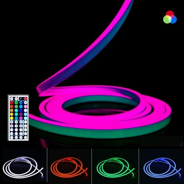 ATOM LED RGB NEON FLEX 12V WIFI Control 10x20mm WITH WIRELESS BLUETOOTH CONTROLLER & APP (4)