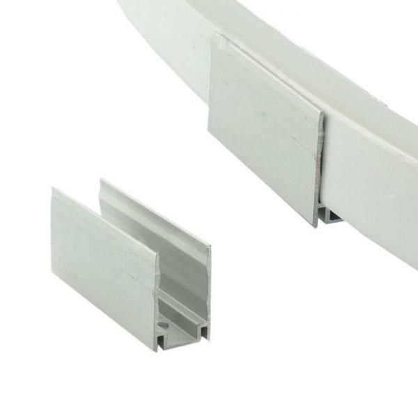 led neon flex aluminium mounting clip - www.ukledlights.co.uk