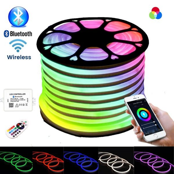 ATOM LED RGB NEON FLEX WITH WIRELESS BLUETOOTH CONTROLLER & APP (1)