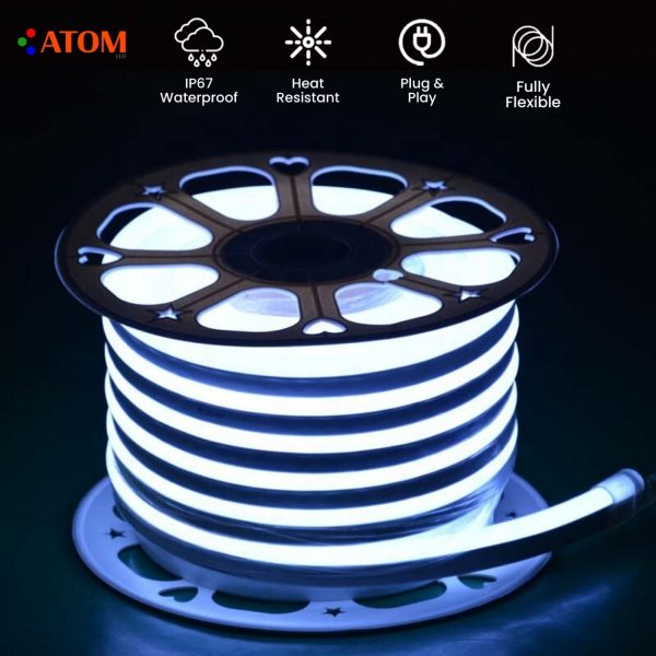 ATOM LED COOL WHITE NEON FLEX IP67 220V - www.ukledlights.co.uk