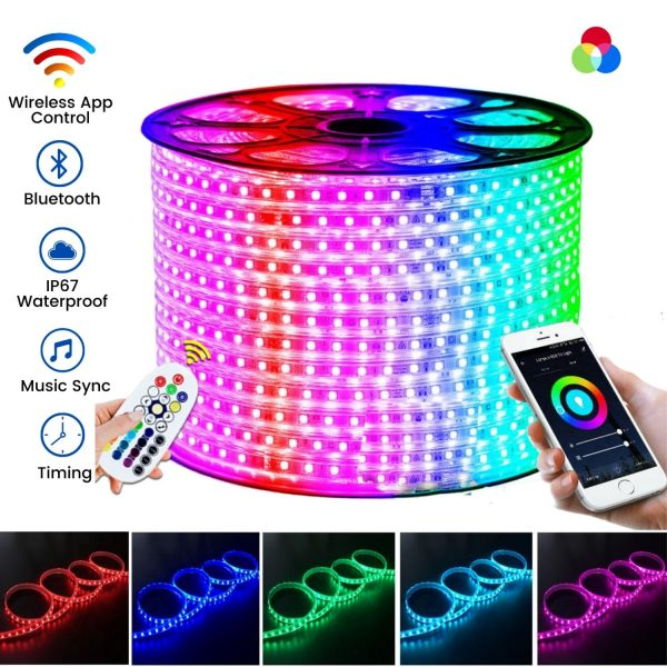 ATOM LED RGB LED Strip 60LEDs/m 220V