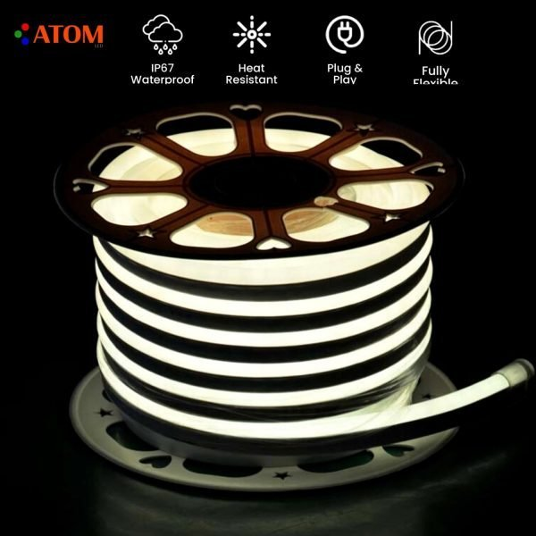 ATOM LED WARM WHITE NEON FLEX IP67 220V - www.ukledlights.co.uk