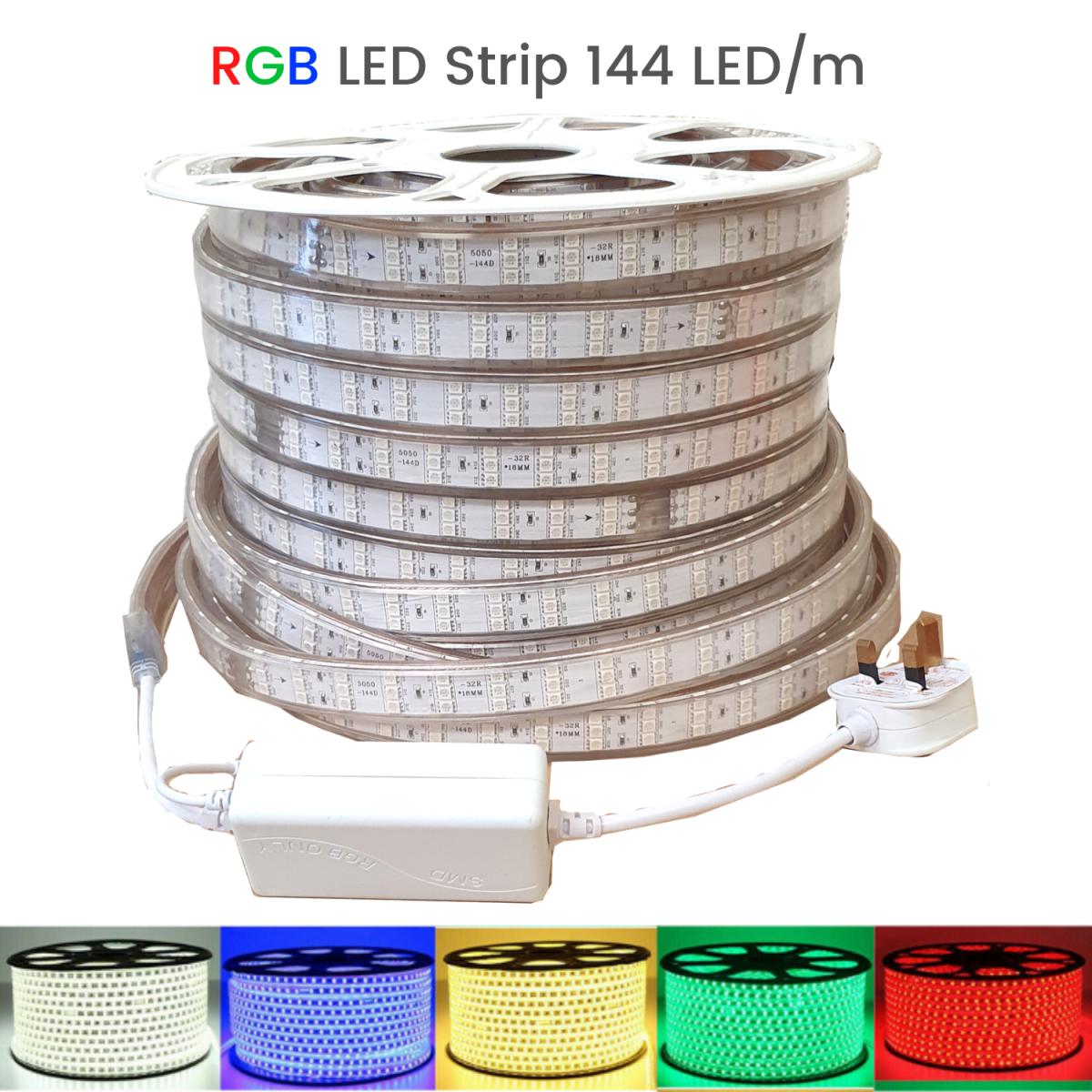ATOM LED RGB LED STRIP 144 LED_m IP67 220V - www.ukledlights.co.uk