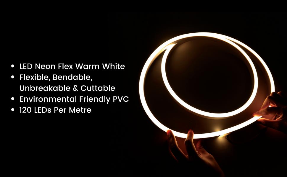 ATOM Led Warm White LED Neon Flex 8*16mm Flat Shape 120LEDs/m 220V