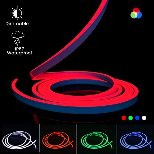 ATOM LED RGB NEON FLEX 24V 10x20mm WITH WIRELESS BLUETOOTH CONTROLLER & APP (1)