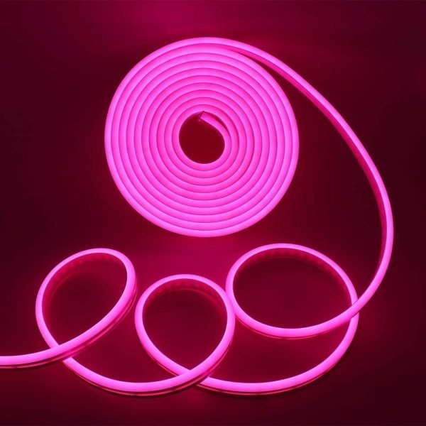 Pink LED Neon Flex DC 12V 6x12mm