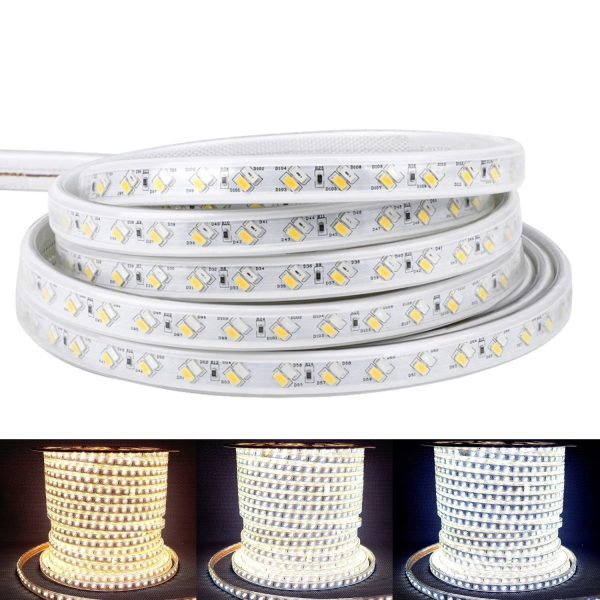Cool White, Warm White, Natural White Tricolour LED Strip 220v 240v 5730 120led_m tricolour