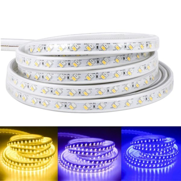 led strip warm white, blue, purple Tricolour LED Strip 220v 240v 5730 120led_m tricolour
